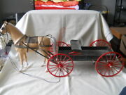 Vintage Marx West Wagon With Horse