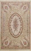 Floral Vegetable Dye French Style Aubusson Chinese Area Rug Hand-made Wool 9x12