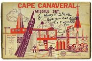 Vintage 1950and039s Marx Cape Canaveral Astronaut Missile Base Playset W/insert And Box