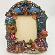 Teddy Bear 3d Picture Photo Frame 5x7 Victorian Christmas Toys Stockings