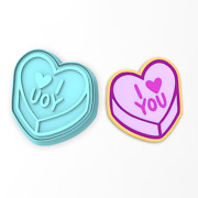 I Love You Valentine Candy Heart Cookie Cutter And Stamp   Valentines Day Humor