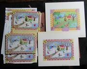 Joyous Christmas Winter And Spring 2pcs 10x9 Greeting Card Art 9024 W/ 14 Cards