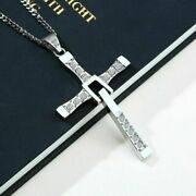 Fast And The Furious Dominic Toretto Cross Pendant Necklace Stainless Steel Jewe