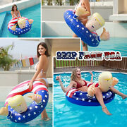 47and039 Trump Swimming Floats Inflatable Pool Circle Ring Raft Float Beach Party Toy