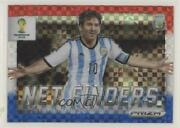 2014 Panini Prizm World Cup Red White And Blue Power Plaid Prizms Lionel Messi 2