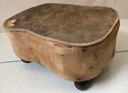 Antique 1800and039s 15 Victorian Foot Stool Restoration Project Rare