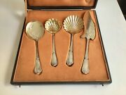 Puiforcat Gilded Sterling Silver Ice Cream Set Strawberry Sugar Sifter Spoons