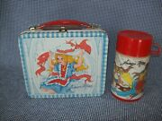 Vintage 1970and039s Junior Miss Metal Lunchbox W/matching Thermos By Aladdin