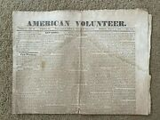 Vintage Newspaper American Volunteer March 6 1834 Carlisle Pa Four Pages Rare