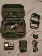 Gopro Hero 7 Black W/ Extra Accessories, 3 Batteries, External Charger, 64g Sd