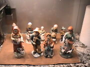 Set Of 9 Vintage Homco Home Interiors Woman Porcelain Figurines And More