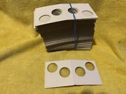 100 2x2 Penny Cent Cardboard Coin Holders Flips