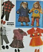 1999 Simplicity Sewing Pattern 9054 Doll Wardrobe 3 Sizes 6 Outfits Craft 7235f