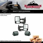 Trail Ridge Tow Mirror Power Fold Extend Heat Smoked Signal Memory Pair For Ford