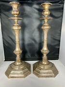 Antique Topazio .925 Sterling Silver Candlesticks Made In Portugal