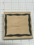 Wood Mounted Rubber Stamp Large Block Picture Frame.... Nice .....lot 56