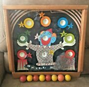Vintage Pressman Toy Skill Ball Metal And Wood Toy Game Made In Usa