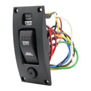 Marine Boat Bilge Pump Switch Panel Deck Cleaning Control Panel With Alarm