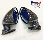 Carbon Fiber Style Racing Side Wing Mirror For Vintage Car Hot Rod Rat Truck 2pc