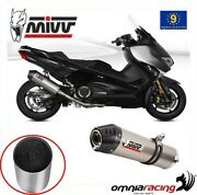 Approved Exhaust Mivv Oval Titanium Carbon Cap + Catalyst Yamaha Tmax 530 2017