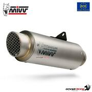 Exhaust Slip-on In Titanium Mivv Gp Pro Homologated For Bmw F900r 2020