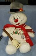 Build A Bear Frosty The Snowman Plush Christmas Toy Hat Scarf Pipe Broom Box