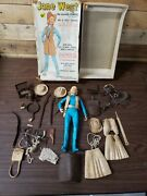 Vintage Louis Marx Jane West Doll With Box And Accessories