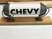 Lqqk 1940's Vintage Milk Glass Chevy Light Old Truck Cab Chevrolet Fire Display