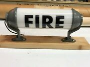 1940's Vintage Milk Glass Fire Accessory Light Old Firetruck Cab Fire Display