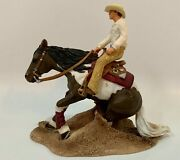 Schleich Really Rare Retired Reining Horse With Cowboy