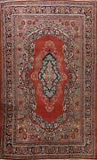 Antique Geometric Mahal Hand-knotted Area Rug Traditional Oriental 8and039x11and039 Carpet