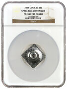 2015 Cook Islands Silver 2 - Space Time Continuum - Pf70 Uc - Ngc Coin - Rare
