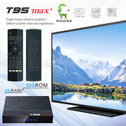 T95 Max+ Plus 8k Hdr 32gb Android 9.0 Bluetooth Tv Box+air Mouse Keyboard Remote