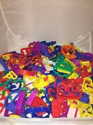 Huge Lot Of 150 Cookie Cutters Metal Plastic Some Vintage Inc Alphabet And Numbers
