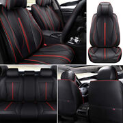 11andtimesdeluxe Car Seat Cover Set Universal Pu Leather Protectors Automotive Interior