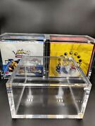 Pokemon Magnetic Acrylic Booster Box Protector Case Wotc Sun And Moon Base Set