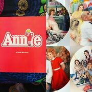 Vintage Annie 1980's Little Orphan Annie Knowles Collector Plates And Vinyl Lot