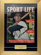 Ted Williams Signed 1948 Sport Life Magazine Cover Page In 12x16 Framed Display