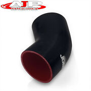 Universal 3.5 Silicone Tube 45 Degree Curve Elbow Bend Coupler Turbo Pipe Black