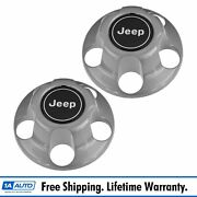 Mopar Oem Wheel Center Cap Cover Pair Set For Jeep Wrangler Grand Cherokee