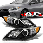 Black Oe Style Head Lights Lamps Assembly Left+right For 2012-2014 Toyota Camry