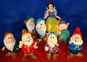 Snow White And The Seven Dwarfs Large Ceramic Set Sold At Disney Parks 1970's