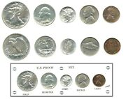 1940 Us Mint Silver Proof Set - 5 Gems - New Capital Holder - Price Reduced
