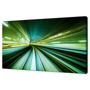 Green Blurred Motion City Lights Canvas Wall Art Print Picture Ready To Hang