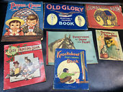 Vtg Kids Art Books Old Glory Painting And Drawing Prayers And Graces Jumbo Elephant