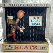 Blatz Beer 1964 Rain Man Motion Sign Milwaukee Wisconsin