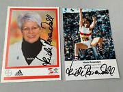 Heide Rosendahl 2 X Olympic Gold Medals Signed Photo Card 4 X 6 + Signed Photo
