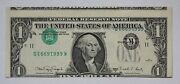 Series 1988-a 1 Federal Reserve Note Inverted Overprint Off-center Cut Printing
