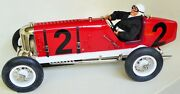 Rare Gilbow Tinplate Large Racer 2 Miller Car Mechanical Toy With Driver