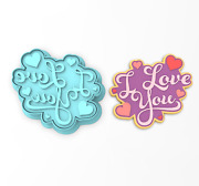 I Love You Cookie Cutter And Stamp   Valentines Day Wedding Bridal Anniversary 4